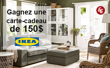 gagnez une carte cadeau ikea de 150 gagnez gros. Black Bedroom Furniture Sets. Home Design Ideas