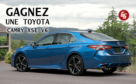 Gagnez une Toyota Camry XSE V6!