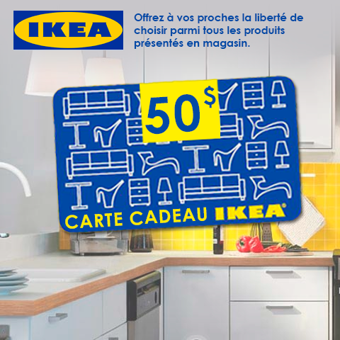 gagnez une carte cadeau ikea de 50 gagnez gros. Black Bedroom Furniture Sets. Home Design Ideas
