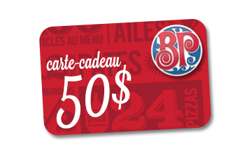 Carte-cadeau Boston Pizza de 50$