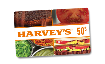 Carte-cadeau Harveys de 50$