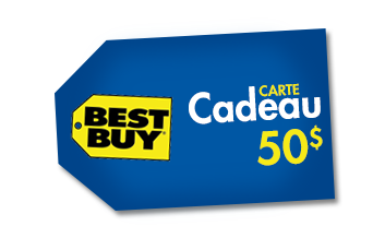 carte-cadeau 50$ de Best Buy